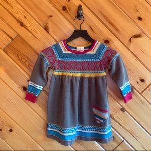 Hanna Andersson Heart Sweater Dress 110 5